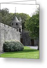 Cahir Castle Wall And Tower Greeting Card