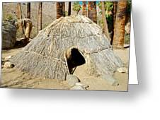 Cahuilla Indian Dwelling In Andreas Canyon In Indian Canyons-ca Greeting Card