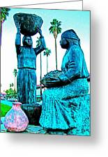 Cahuilla Women Sculpture In Palm Springs-california  Greeting Card
