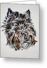 Cairn Terrier Martha Greeting Card