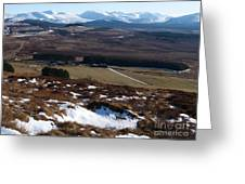 Cairngorms Mountains From Dorback Greeting Card
