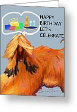 Cake And Wine Greeting Card