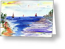 Cala Gran Majorca Greeting Card by Anthony Fox