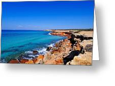Cala Saona On Formentera Greeting Card