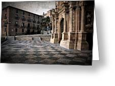 Calahorra Cathedral And Palace Greeting Card