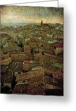 Calahorra Roofs From The Bell Tower Of Saint Andrew Church Greeting Card