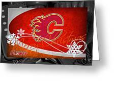 Calgary Flames Christmas Greeting Card