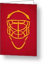 Calgary Flames Goalie Mask Greeting Card