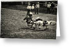Calgary Stampede Black And White Greeting Card