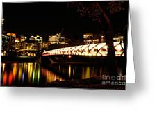 Calgary's Peace Bridge Greeting Card