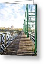 Calhoun Street Bridge Walkway Greeting Card