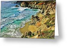 Californa Shore Greeting Card by Benjamin Yeager