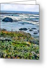 California Central Coast Near San Simeon Greeting Card