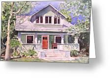 California Craftsman Cottage Greeting Card
