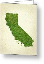 California Grass Map Greeting Card by Aged Pixel