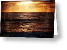 California Grunge Sunset Greeting Card