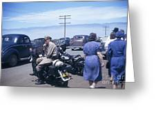California Highway Patrol Harley Davidson Circa 1948 Greeting Card