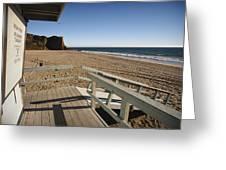 California Lifeguard Shack At Zuma Beach Greeting Card