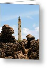 California Lighthouse Aruba Greeting Card
