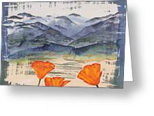 California Poppies Greeting Card by Carolyn Doe