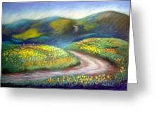 California Poppy Path Greeting Card