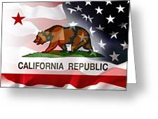 California Republic Within The United States Greeting Card