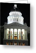 California State Capitol At Night Greeting Card