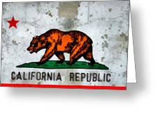 California State Flag Weathered And Worn Greeting Card