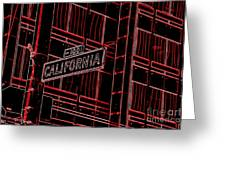 California Street Sign Red Greeting Card