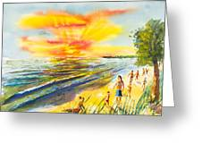 California Sunset Greeting Card