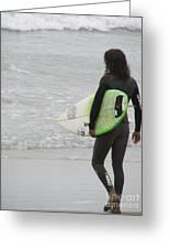 California Surfing Greeting Card