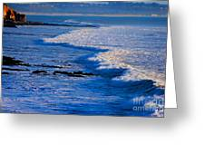California Pismo Beach Waves Greeting Card