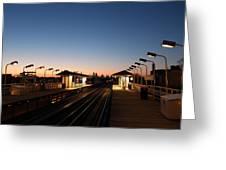California Train Station Landscape Greeting Card