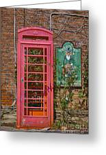 Call Me - Abandoned Phone Booth Greeting Card