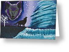 Call Of The Wolf Greeting Card