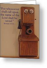 Call On The Lord Greeting Card