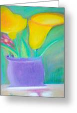 Calla Lilies Supreme Greeting Card by Robert Bray