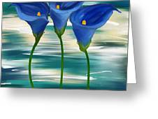 Calla Trio- Calla Lily Paintings Greeting Card