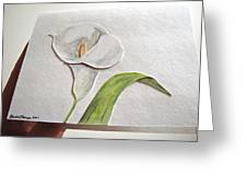 Callalilly Card - Image Two Greeting Card
