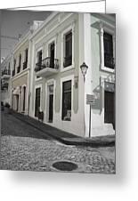 Calle De Luna Y Calle Del Cristo Greeting Card