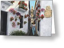 Calleje De Las Flores Cordoba Spain Greeting Card