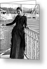 Calley In The Corner Black And White Greeting Card