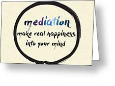 Calligraphy Mediation Make Real Greeting Card