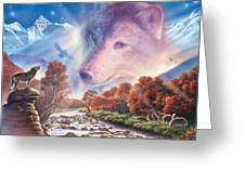 Calling To The Pack Greeting Card