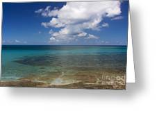 Calm Caribbean Ocean Greeting Card