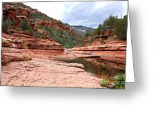 Calm Day At Slide Rock Greeting Card