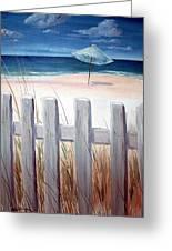 Calm Day At The Seashore Greeting Card