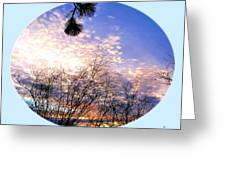 Calm December Sunset Greeting Card