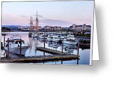 Calm In The Harbour Greeting Card by Jenny Hudson