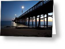 Calm Night At Newport Pier Greeting Card